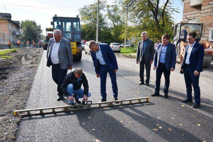 В Новом Городке завершается ремонт улицы Гастелло, сентябрь 2019