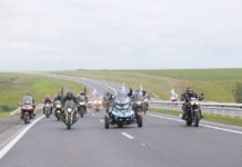 Цивилев, мотоциклетный кортеж