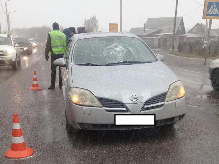 ДТП в Белово, ул. Полевая, автомобиль сбил пешехода, 18 октября 2019 г
