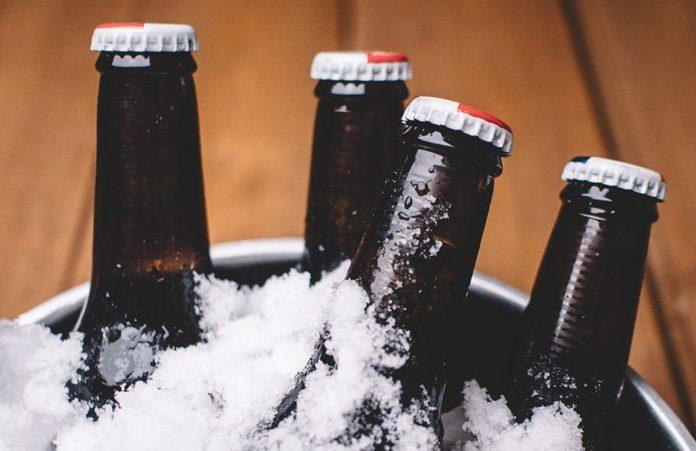 Пиво, лед