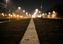 Город, улица, ночь, свет