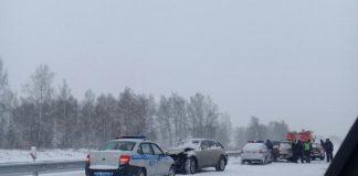 ДТП Белово на трассе у Колмогор, 17 ноября 2019 г