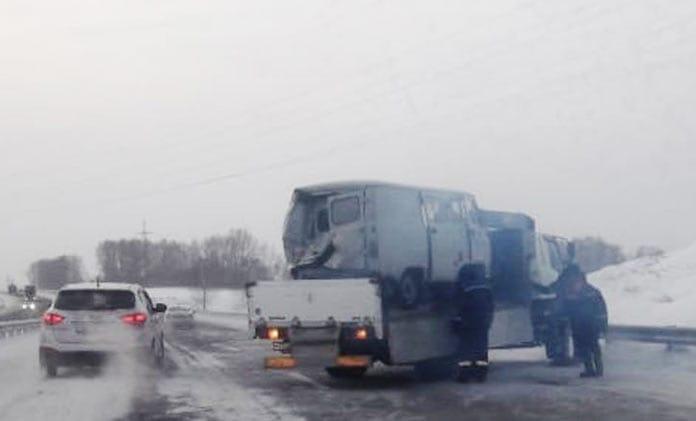 ДТП Белово, Беловский район, Буханка, 21 ноября 2019 г
