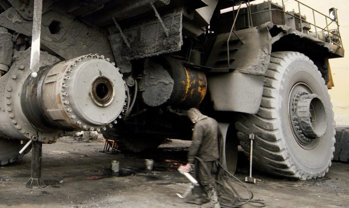 БелАЗ, ремонт, самосвал