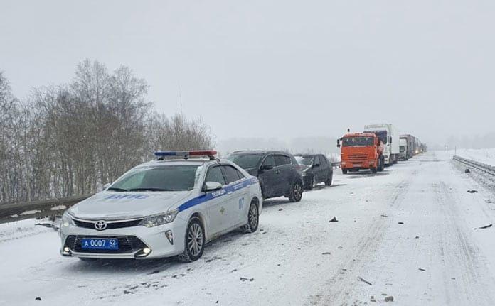 Массовое ДТП в Топкинском районе, 25 декабря 2019 г