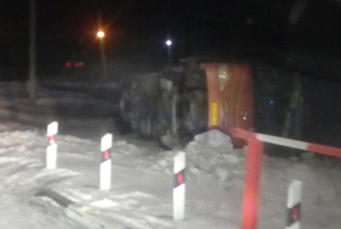 На дороге Белово-Гурьевск перевернулся автобус, 20 января 2020 г