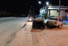 ДТП Белово. Столкнулись Datsun и Лада-Веста, 20 января 2020 г