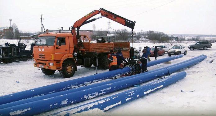 Строительство нового водовода в Белово