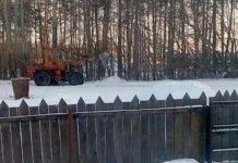 Уборка снега в Белово