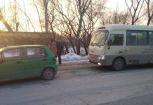В Белове автобус протаранил Дэу Матиз, 29 января 2020 г