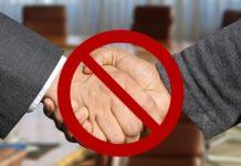 Рукопожатие, запрет, коронавирус