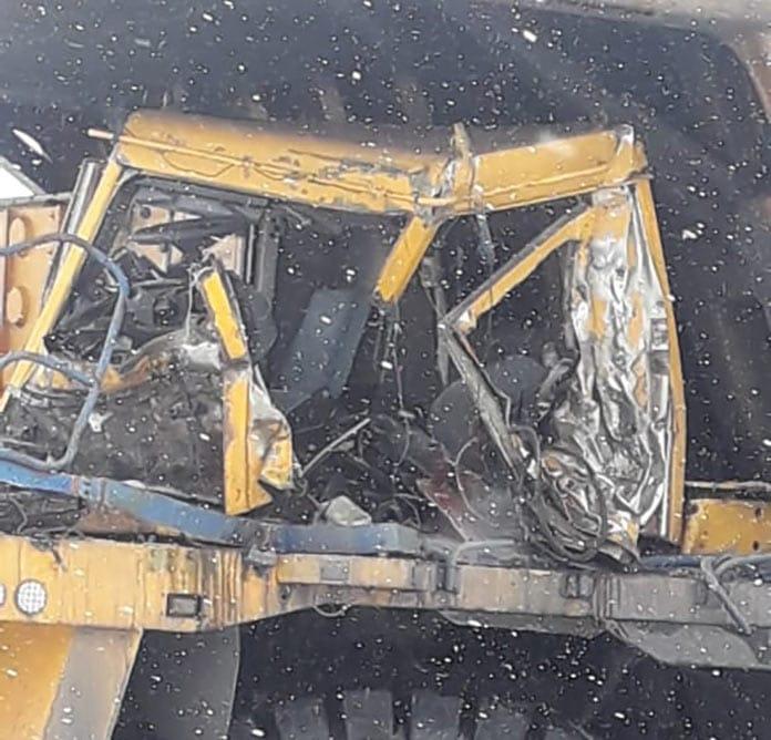 В Киселевске столкнулись два БелАЗа. Один водитель погиб. 10 марта 2020 г