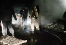 В Новом Городке сгорели гаражи, 18 марта 2020 г