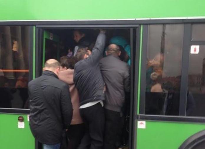 Давка в автобусе, Новокузнецк