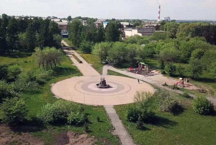 Реконструкция парка Приморский в Инском, май 2020 г