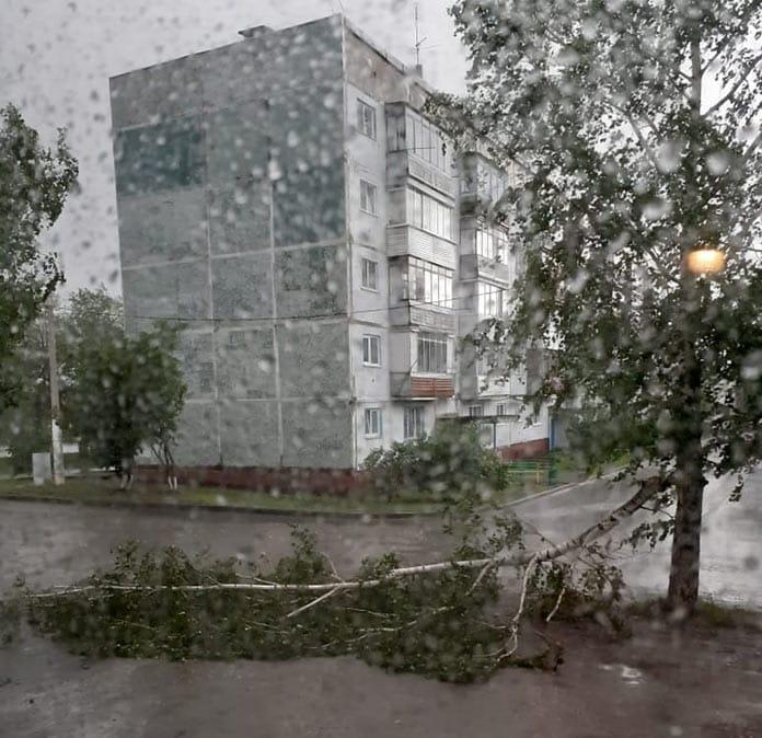 Белово. Последствия урагана в Кузбассе, 26 мая 2020 г