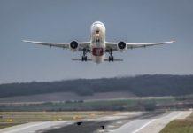 Самолет, взлет, аэропорт, Emirates
