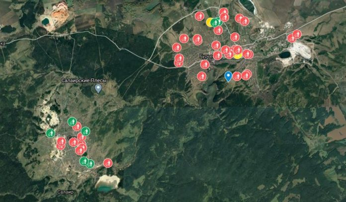 Карта несанкционированных свалок на территории Гурьевского муниципального округа
