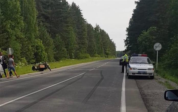 Мотоциклист скрылся с места ДТП, Гурьевск 13 июня 2020 г