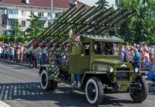 Катюша на параде в честь 75-летия Победы в Белово, 24 июня 2020 г