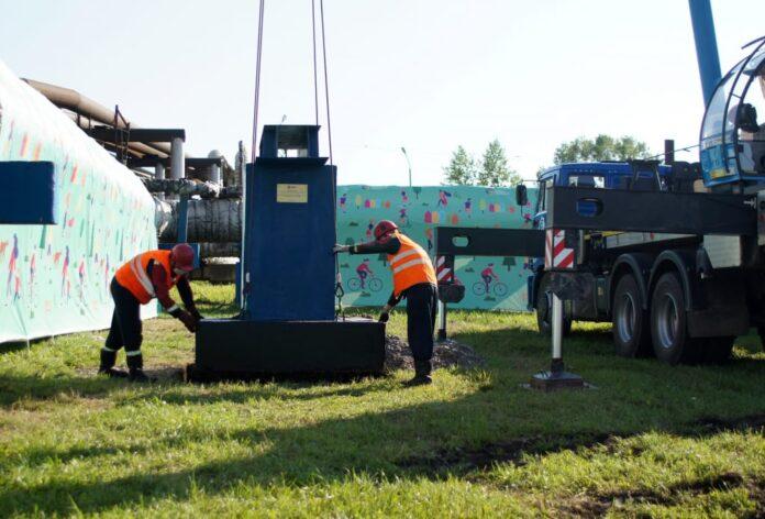 На Беловской ГРЭС установили первую опору трубопровода для теплоснабжения Белово