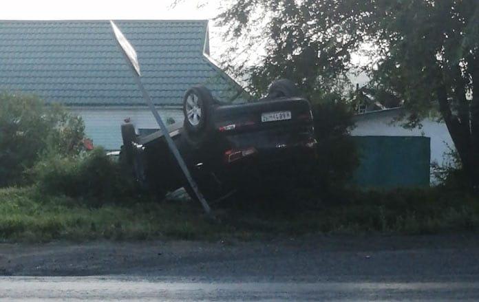 ДТП Белово. Пьяный водитель сбил женщину и перевернулся 20 июля 2020 г