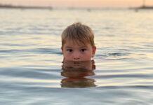 Купание, мальчик, дети, плавание