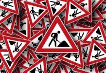 Дорожные работы, знак