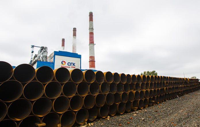 Трубы для новой тепломагистрали прибыли на Беловскую ГРЭС