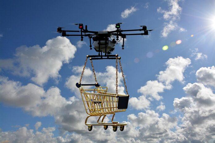 Квадрокоптер, дрон, доставка