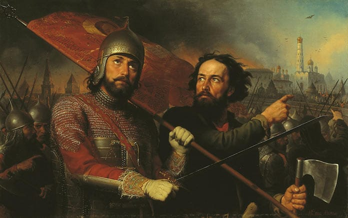 Картина М.И. Скотти «Минин и Пожарский» (1850)