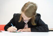 девочка, школьница, учеба, рисование