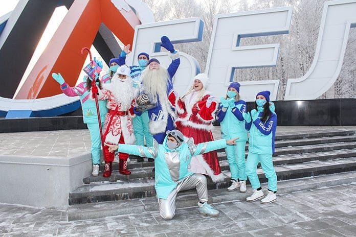 Белово посетил главный кузбасский Дед Мороз, 1 декабря 2020 г