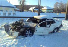 ДТП Краснобродский. Поезд протаранил легковушку. Двое пострадали. 25 декабря 2020 г в Дуброво