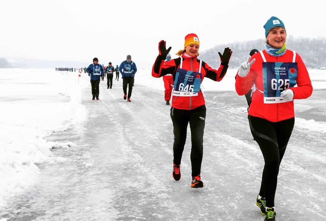 #бегупоморю, Ice Running