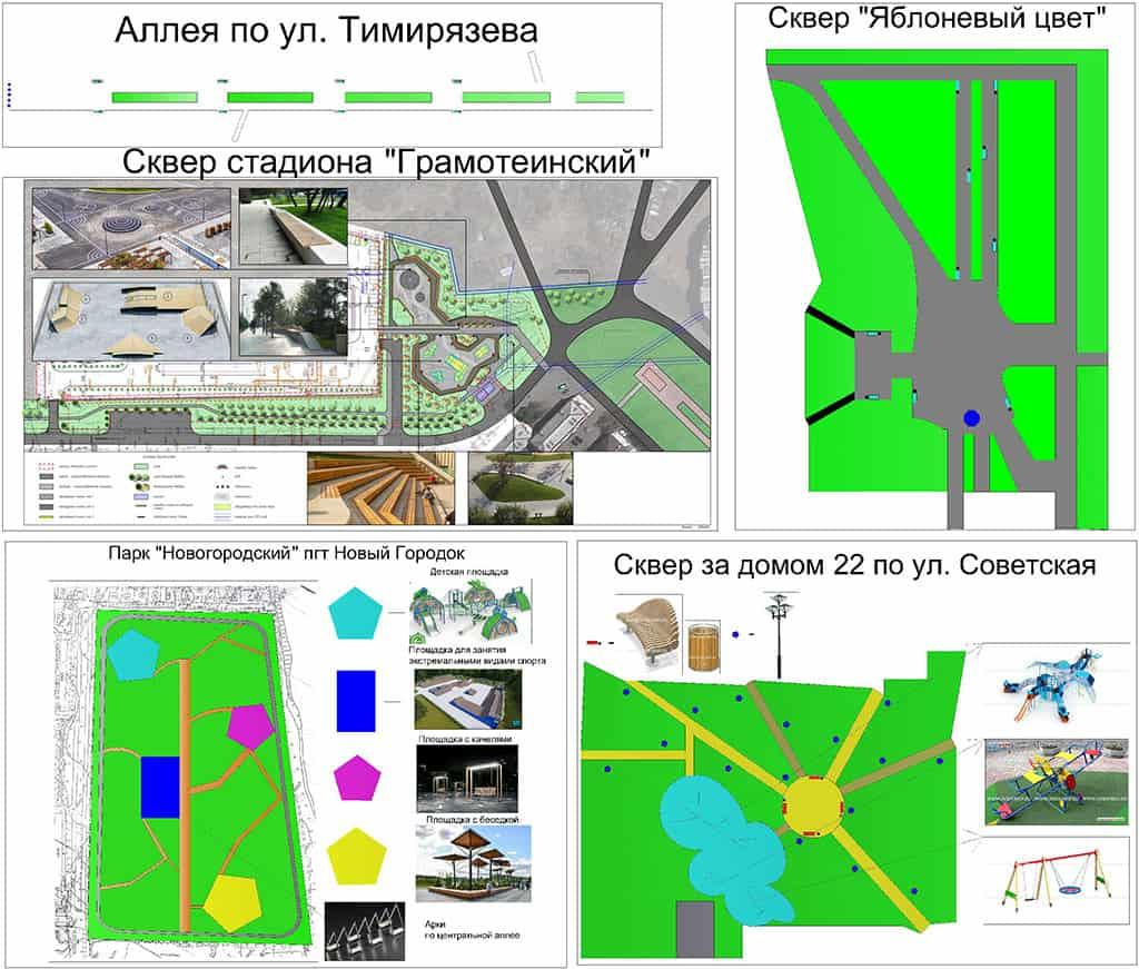 Благоустройство в Белово, проекты для голосования общественности