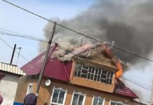 В поселке Бачатский сгорел дом, 18 апреля 2021