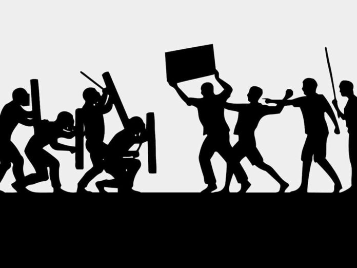 Митинг, бунт, полиция, демонстрация