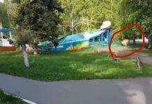 В Кузбассе у аттракциона на ходу отвалилось кресло